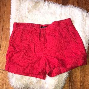 Banana republic red Hampton fit shorts size 8